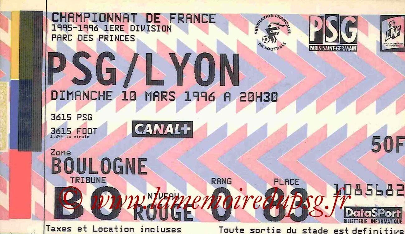 1996-03-10  PSG-Lyon (31ème D1)