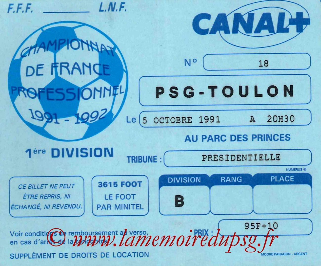1991-10-05  PSG-Toulon (13ème D1)