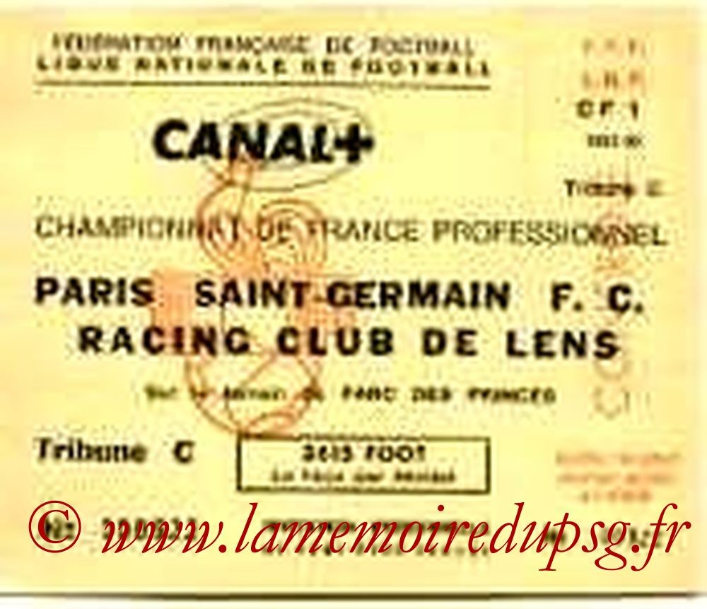 1991-11-23  PSG-Lens  (19e D1,Invitation LNF)