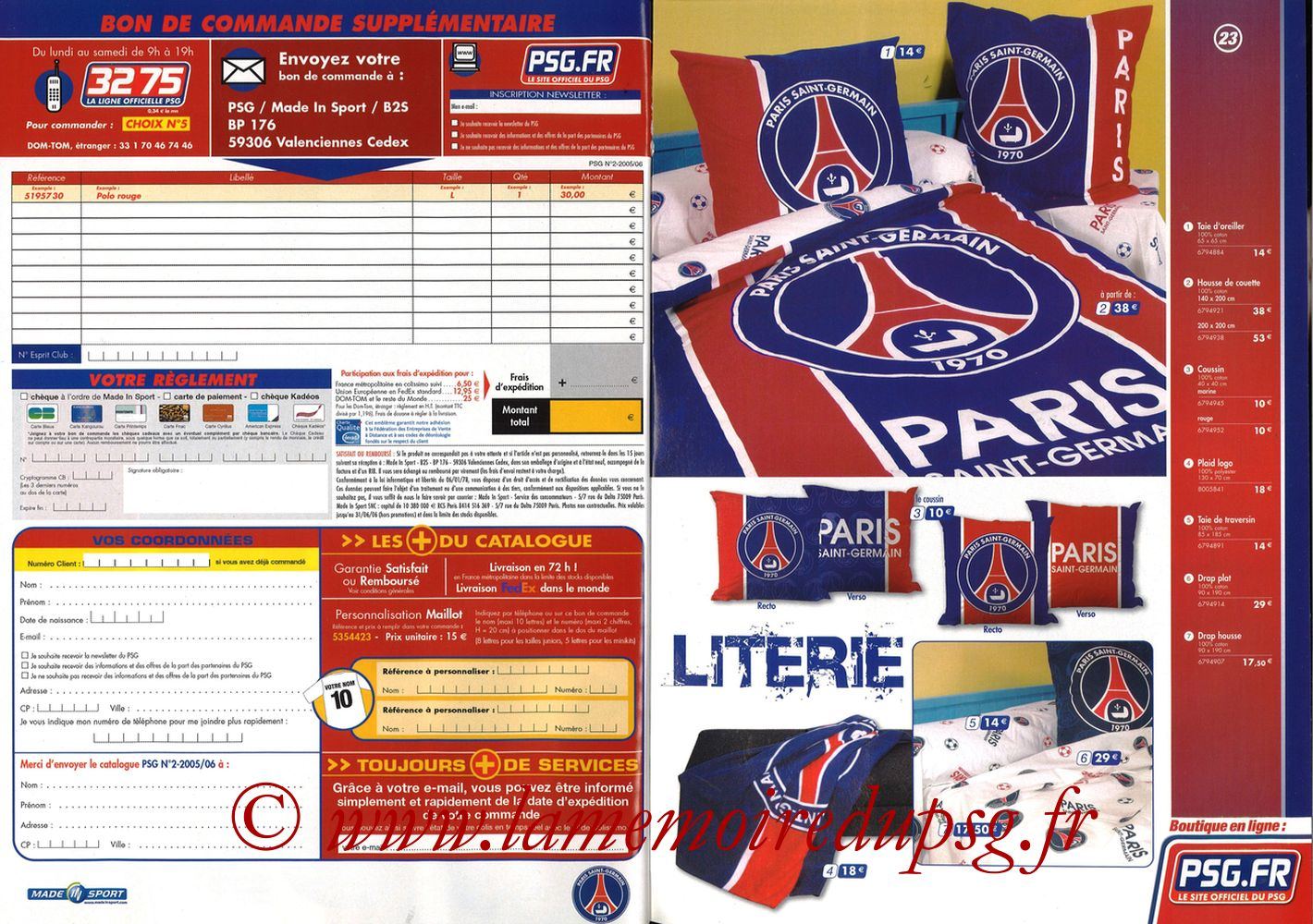 Catalogue PSG - 2005-06 - Pages 22 et 23