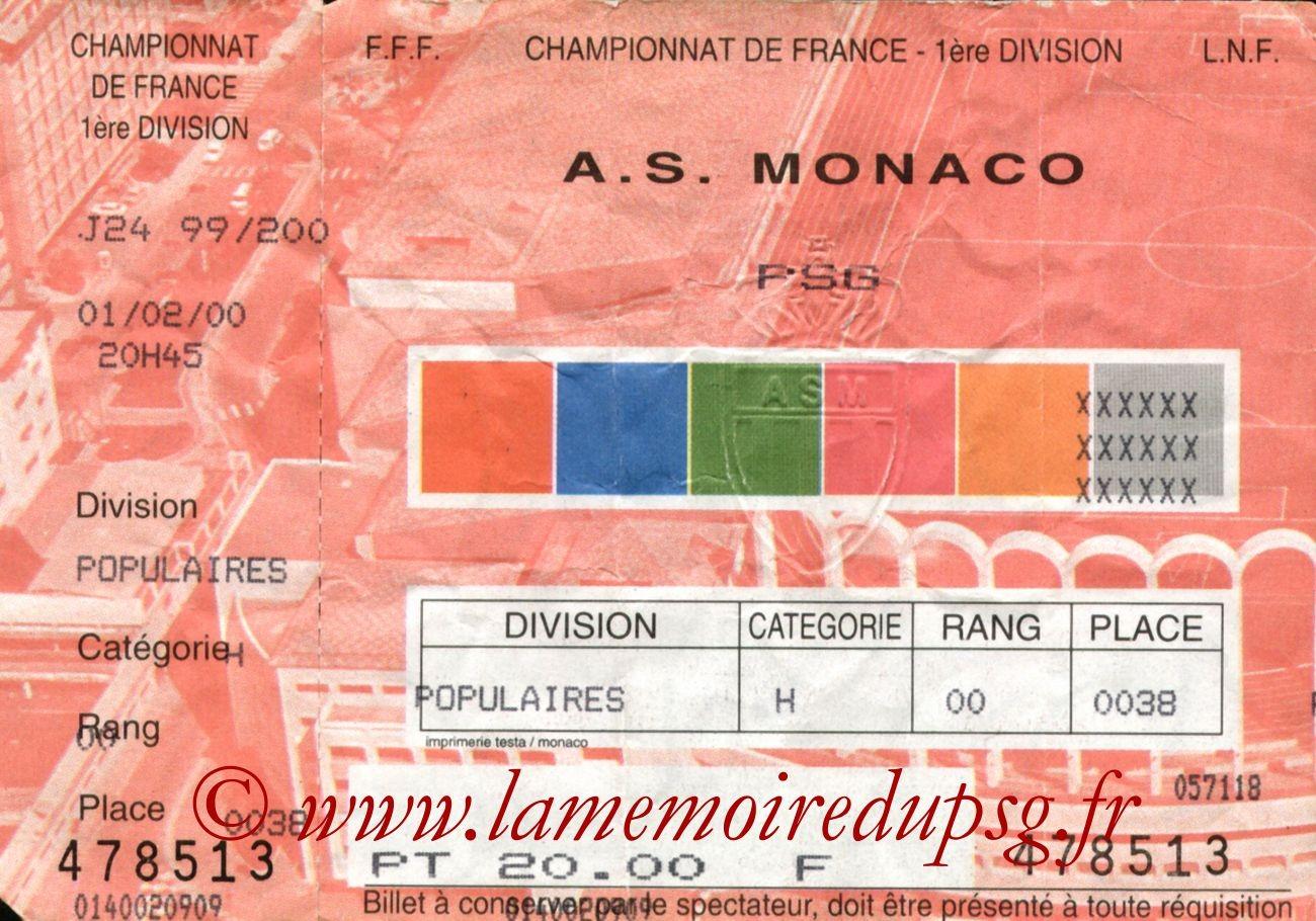 2000-02-01  Monaco-PSG (24ème D1)