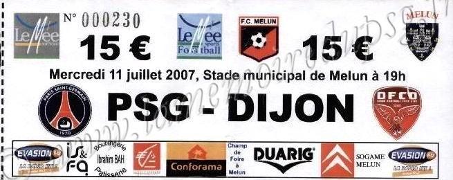 2007-07-11  PSG-Dijon (Amical à Melun)