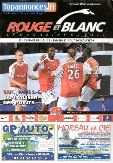 2009-08-22  Valenciennes-PSG (3ème L1, Rouge et blanc)