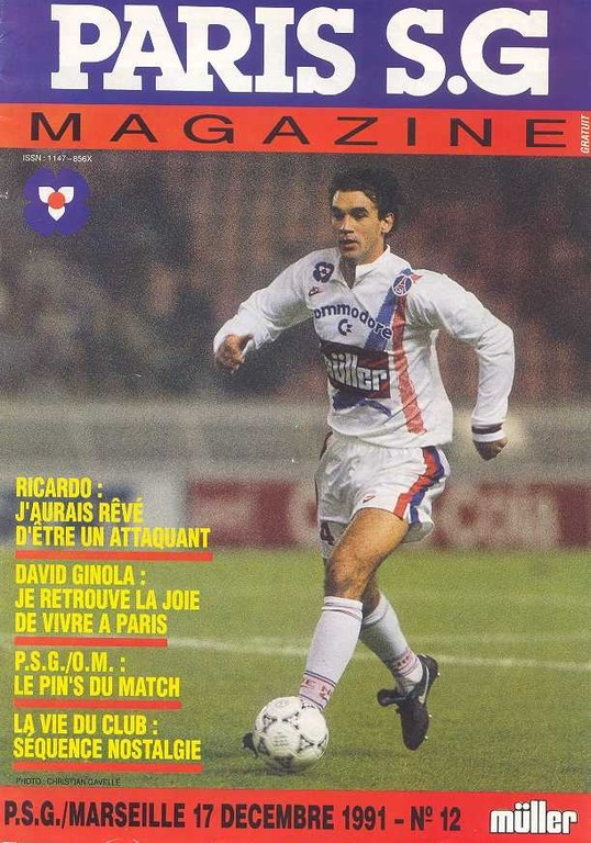 1991-12-17  PSG-Marseille (23ème D1, Paris SG Magazine N°12)