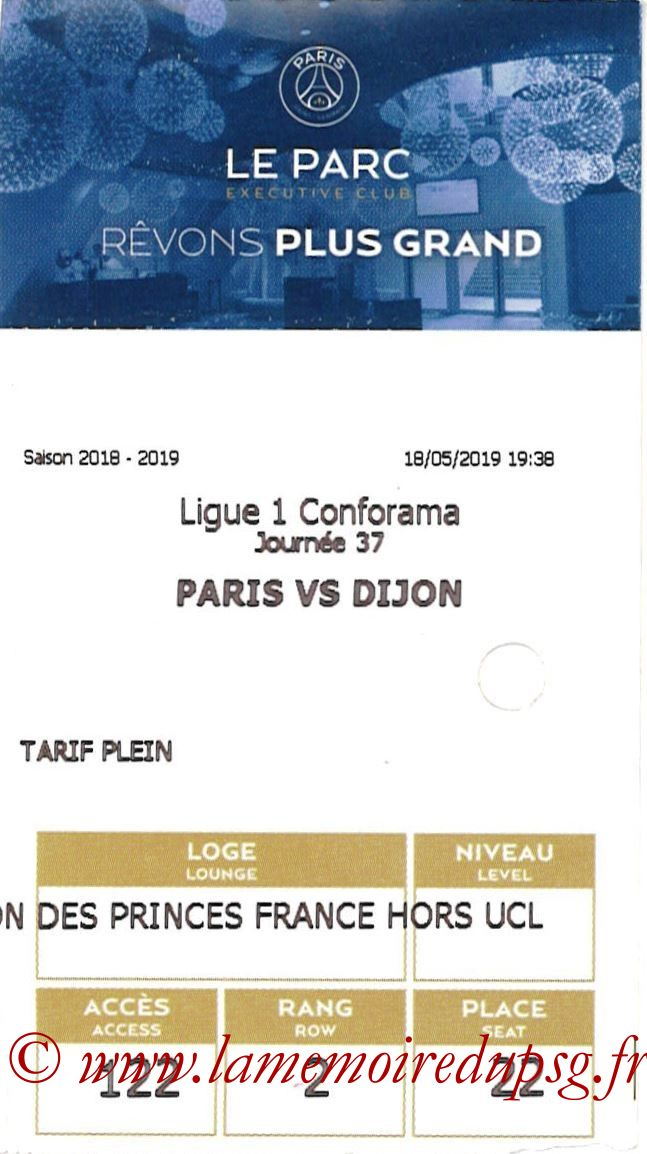 2019-05-18  PSG-Dijon (37ème L1, E-ticket Executive club)