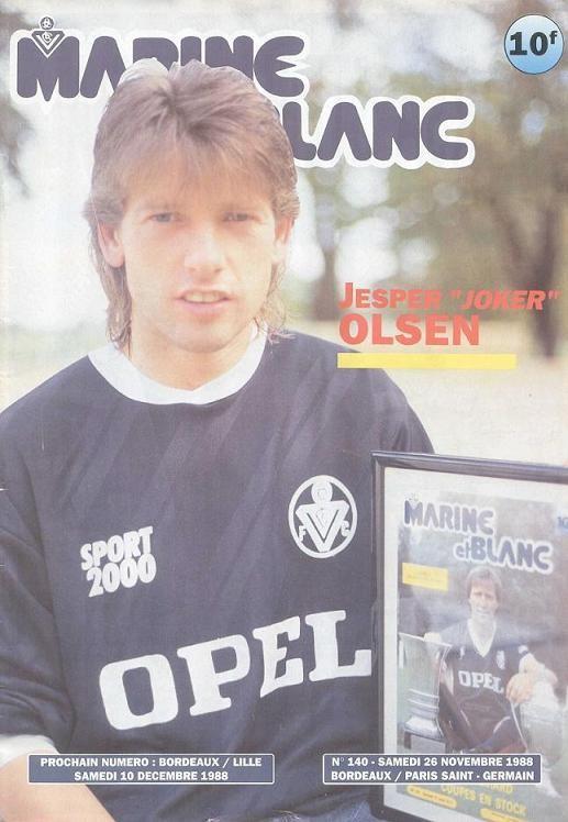 1988-11-26  Bordeaux-PSG (20ème D1, Marine et Blanc N°140)