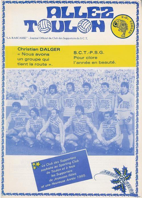 1984-12-22  Toulon-PSG (21ème D1, Allez Toulon)