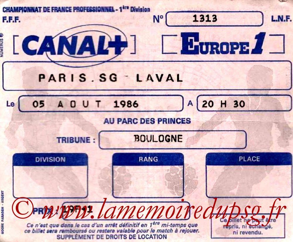 1986-08-05  PSG-Laval (1ère D1)