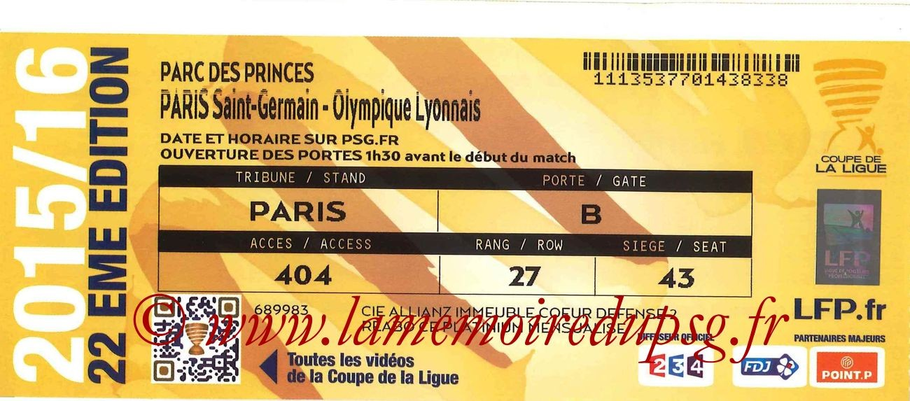 2016-01-13  PSG-Lyon (16ème CL)
