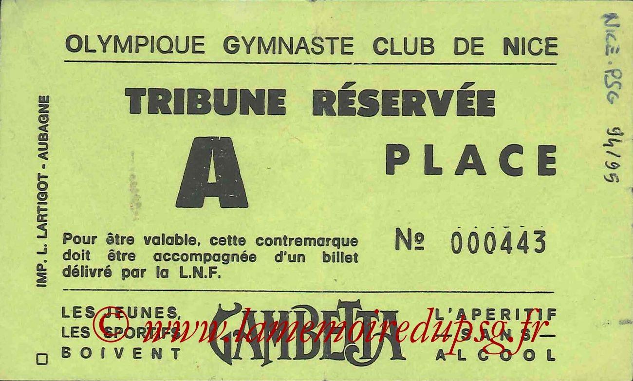 1994-10-22  Nice-PSG (14ème D1, Sans nom)bis