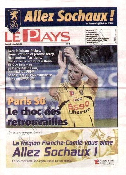 2006-08-26  Sochaux-PSG (4ème L1, Allez Sochaux N°2)