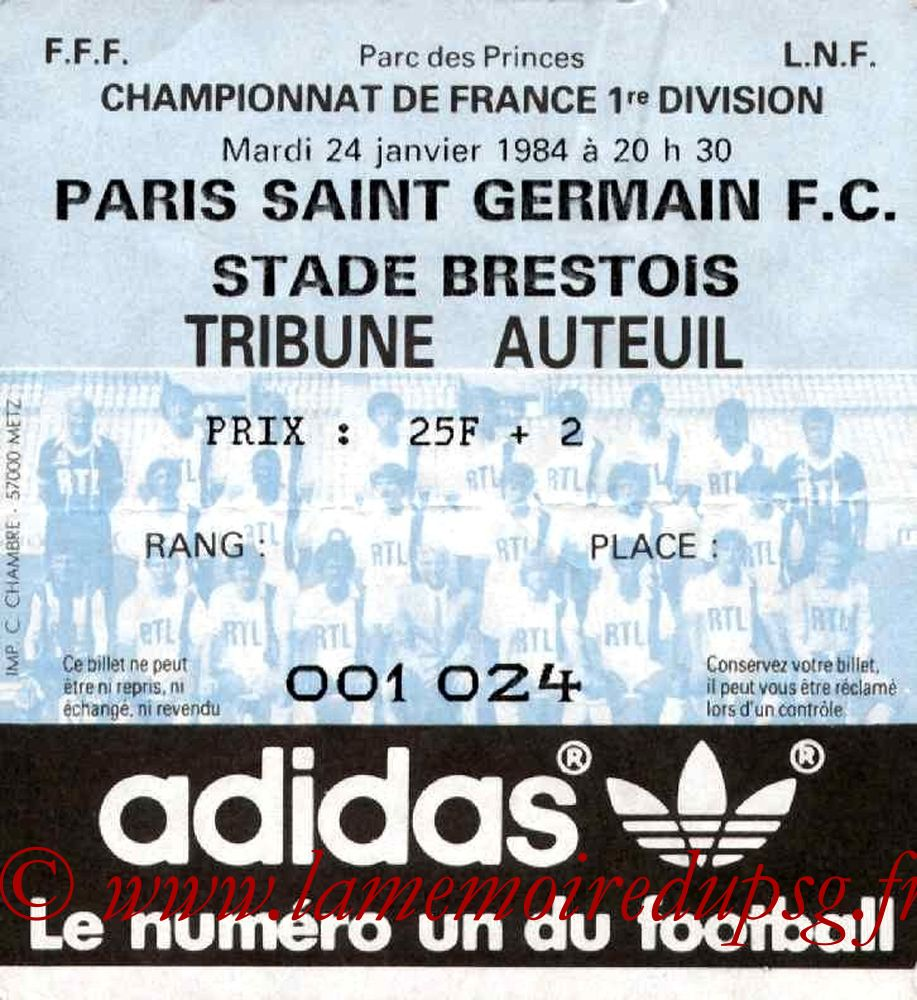 1984-01-24  PSG-Brest (25ème D1)