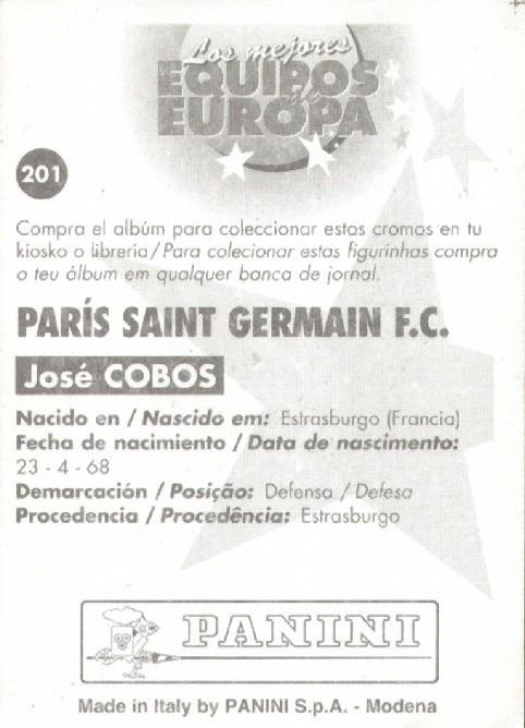 N° 201 - José COBOS (Verso)