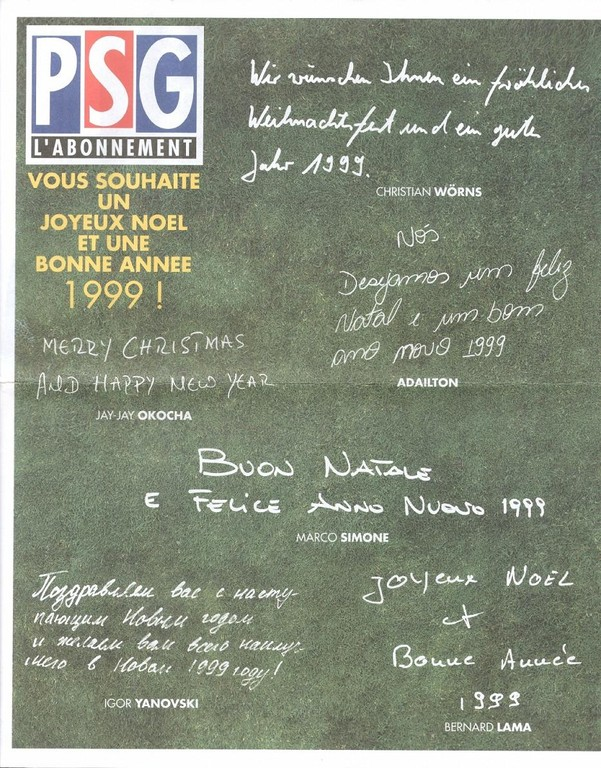 1999-01  PSG-L'abonnement
