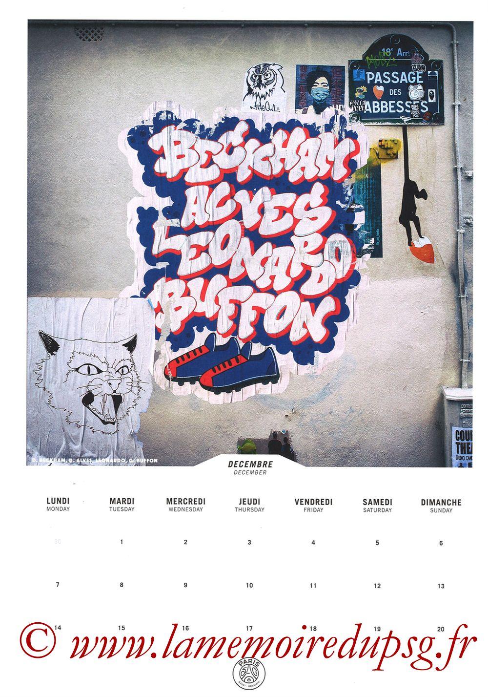 Calendrier PSG 2020 - Page 23 - BECKHAM + ALVES + LEONARDO + BUFFON