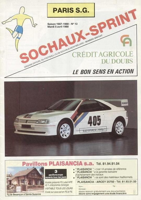 1988-04-05  Sochaux-PSG (16ème Retour CF, Sochaux Sprint N°13)