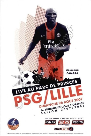 2007-08-26  PSG-Lille (5ème L1, Officiel PSG N°105)