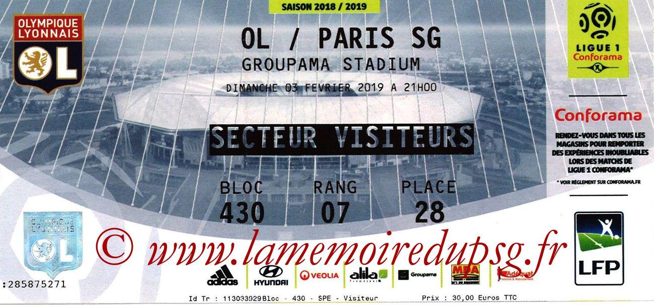 2019-02-03  Lyon-PSG (23ème L1)