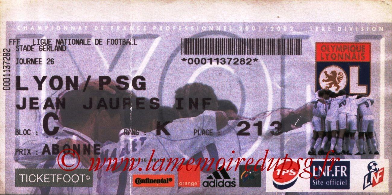 2002-02-17  Lyon-PSG (26ème D1)