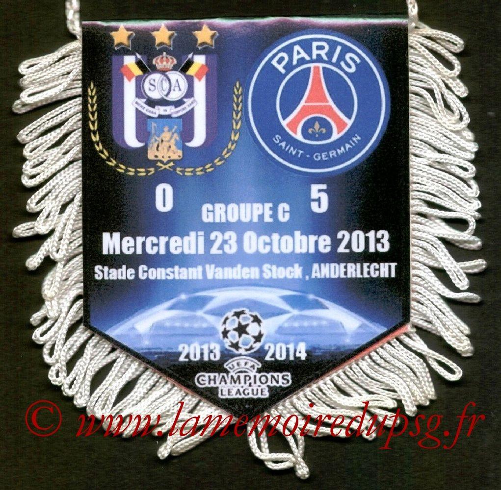 2013-10-23  Anderlecht-PSG (3ème C1)