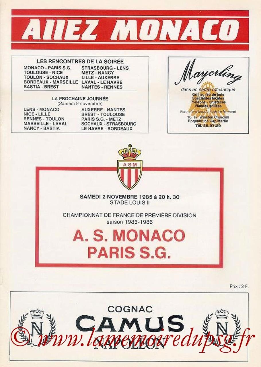 1985-11-02  Monaco-PSG (18ème D1, Allez Monaco)