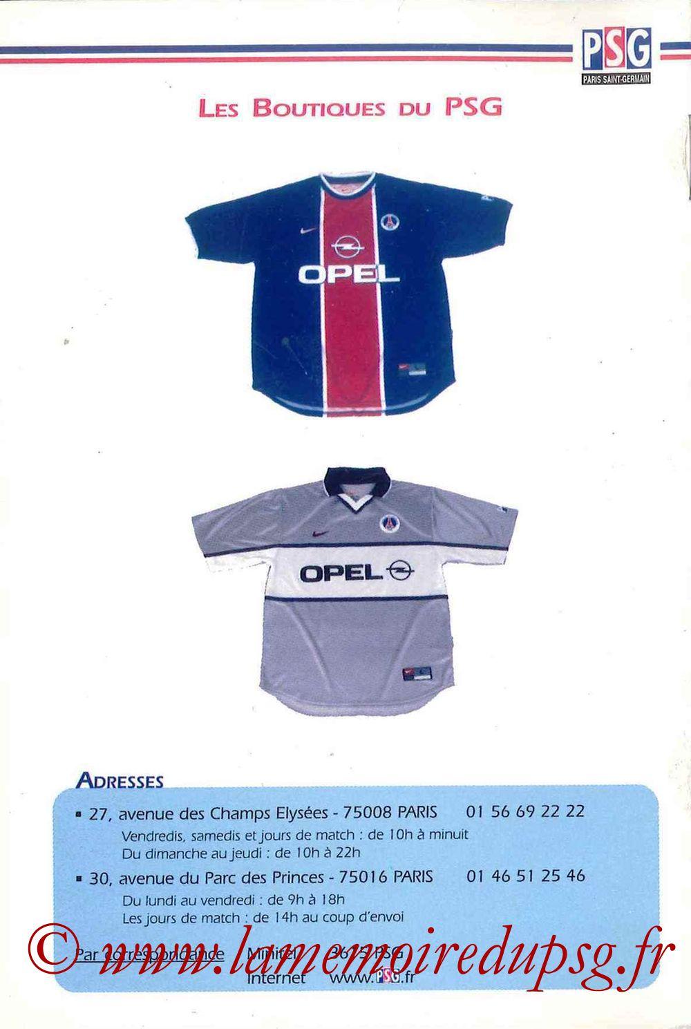 1999-00 - Guide de la Saison PSG - Page 16