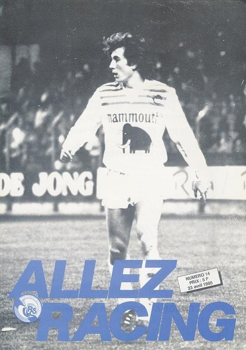 1985-04-23  Strasbourg-PSG (34ème D1, Allez Racing N°14)
