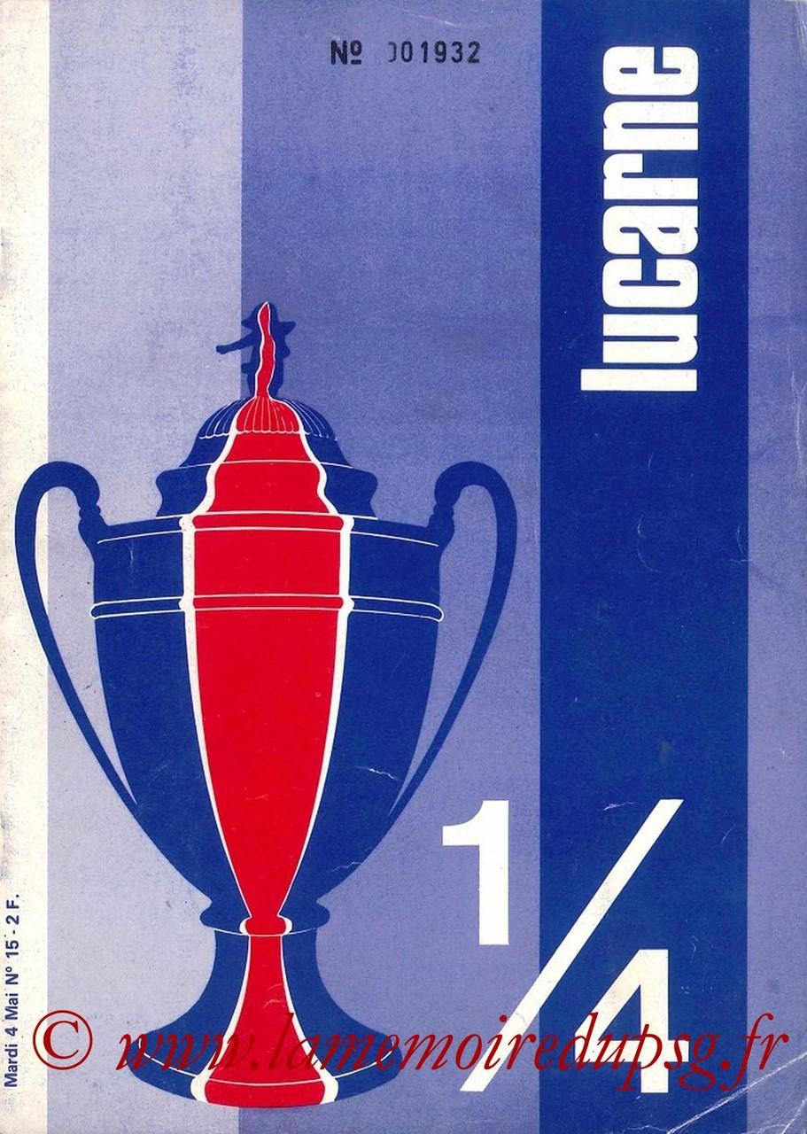 1976-05-04  PSG-Lyon  (Quart Finale Aller CF, Lucarne N°15)
