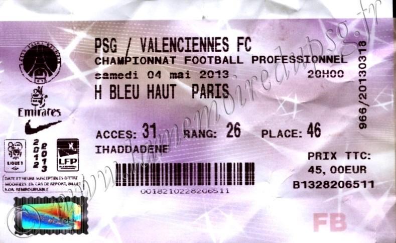 2013-05-05  PSG-Valenciennes (35ème L1, Billetel)