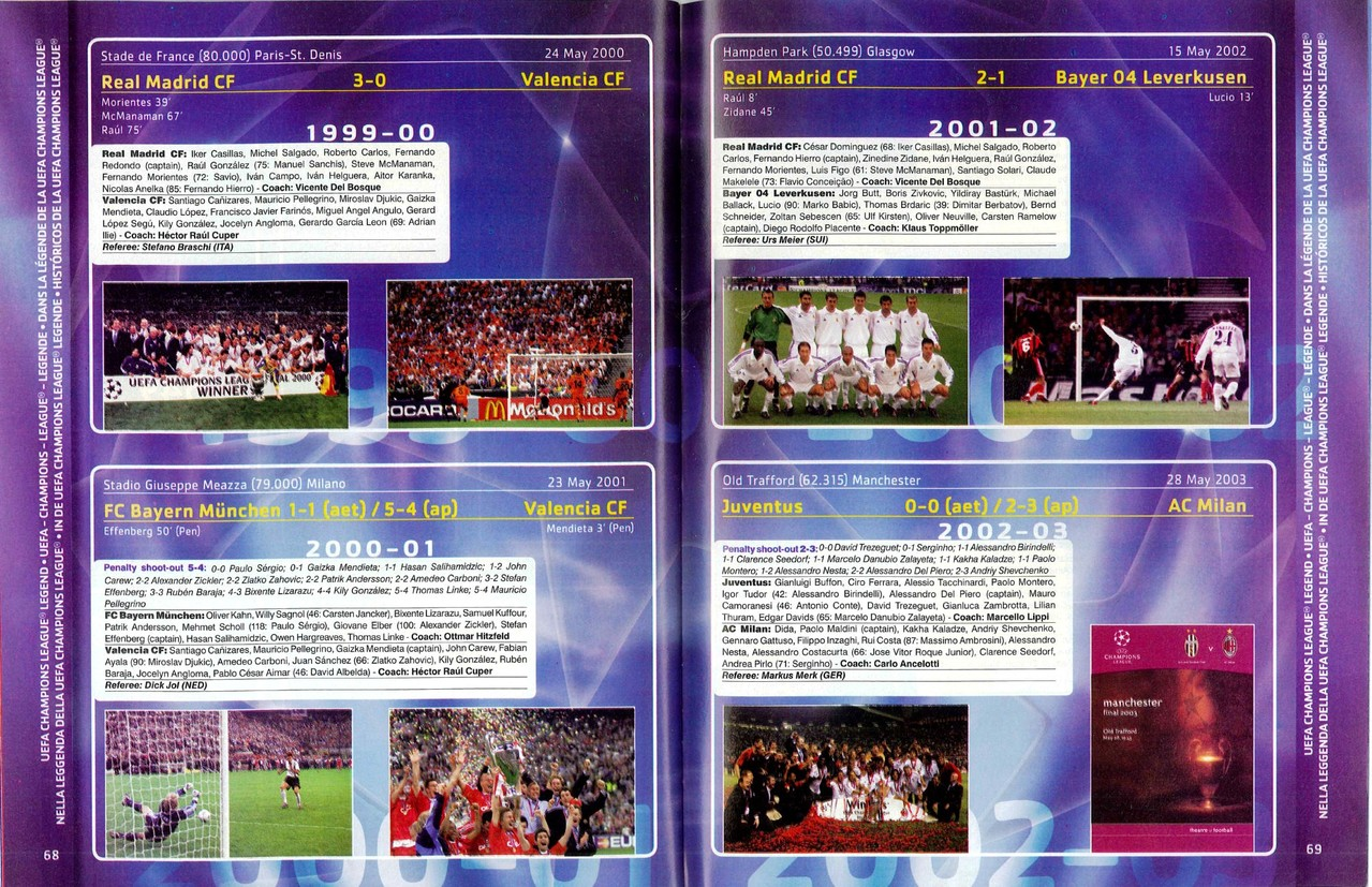 2007-08 - Panini Champions League - Pages 68 et 69