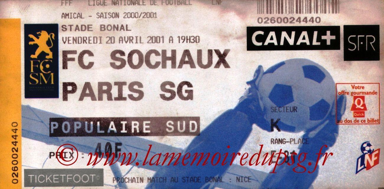 2001-04-20  Sochaux-PSG (Amical à Sochaux)