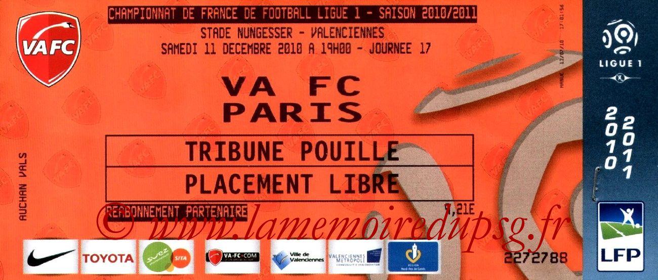 2010-12-11  Valenciennes-PSG (17ème L1)