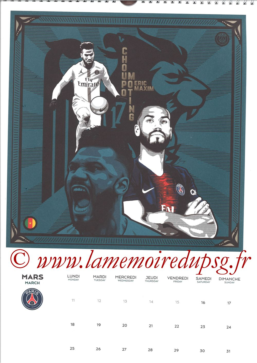 Calendrier PSG 2019 - Page 06 - Eric-Maxim CHOUPO MOTING