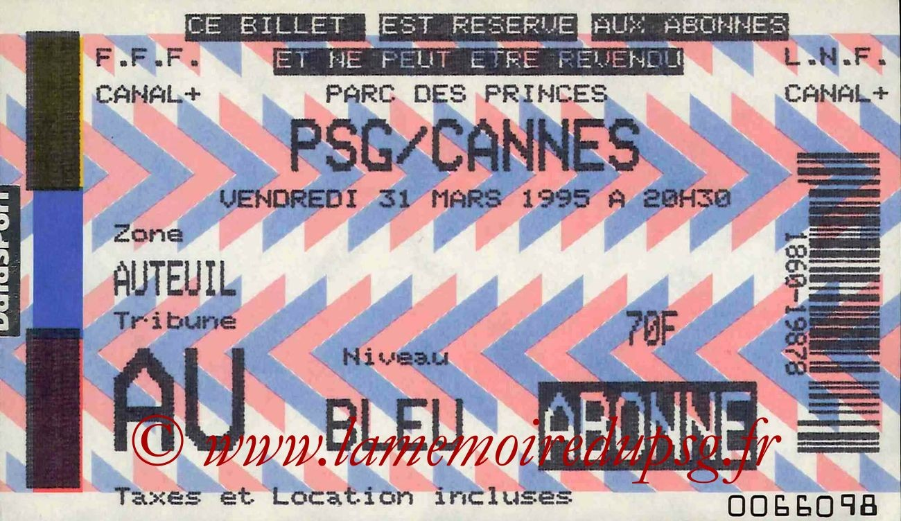 1995-03-31  PSG-Cannes (31ème D1)