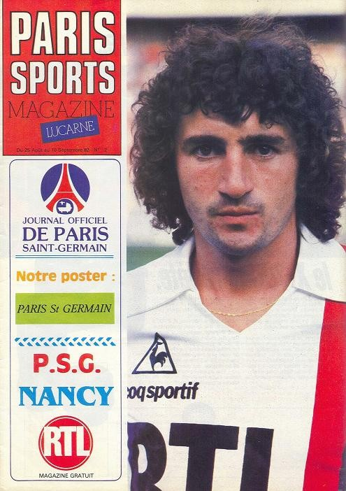 1982-08-24  PSG-Nancy (3ème D1, Paris Sports Magazine N°2)