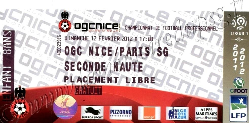 2012-02-12  Nice-PSG (23ème L1)