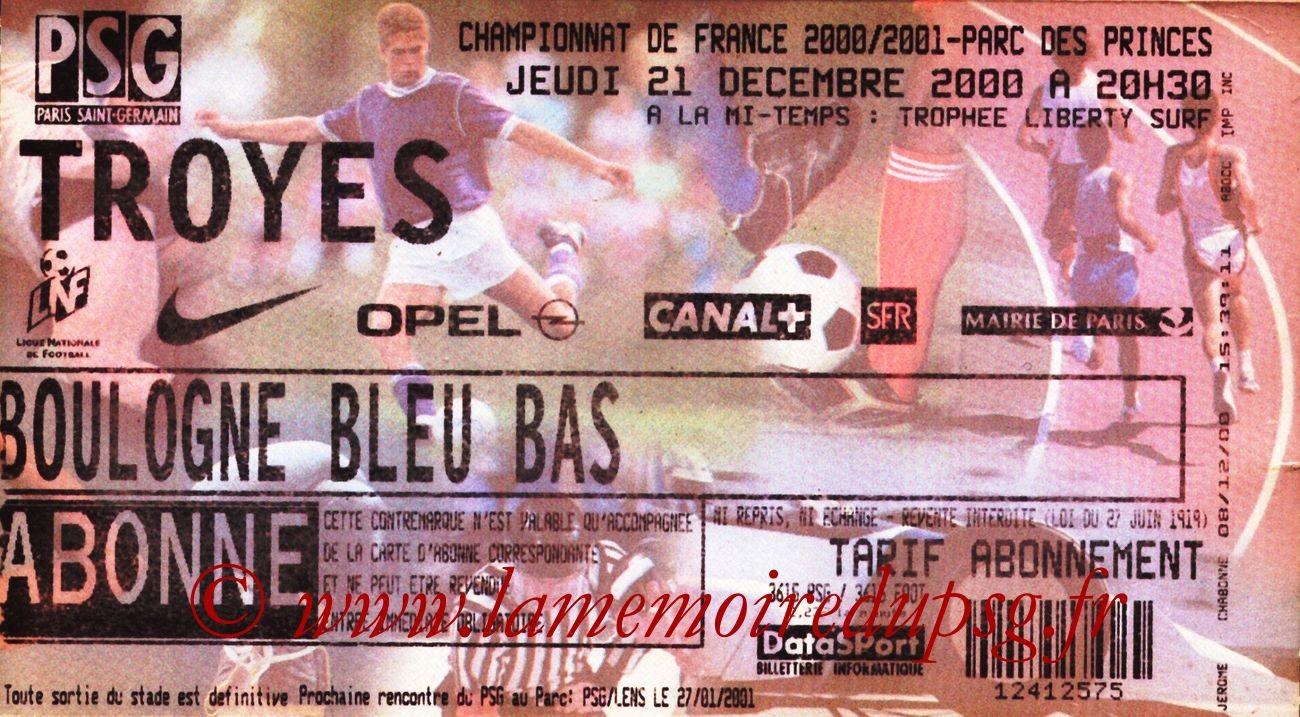 2000-12-21  PSG-Troyes (22ème D1)