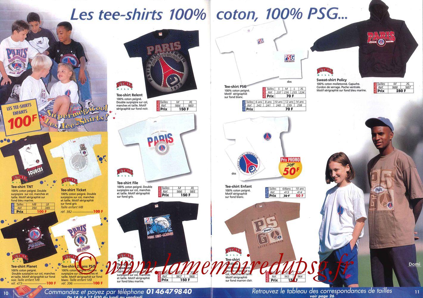 Catalogue PSG - 1997-98 - Pages 10 et 11