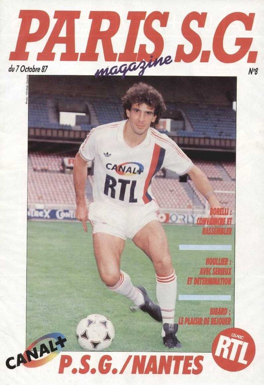 1987-10-07  PSG-Nantes (14ème D1, Paris SG Magazine N°8)