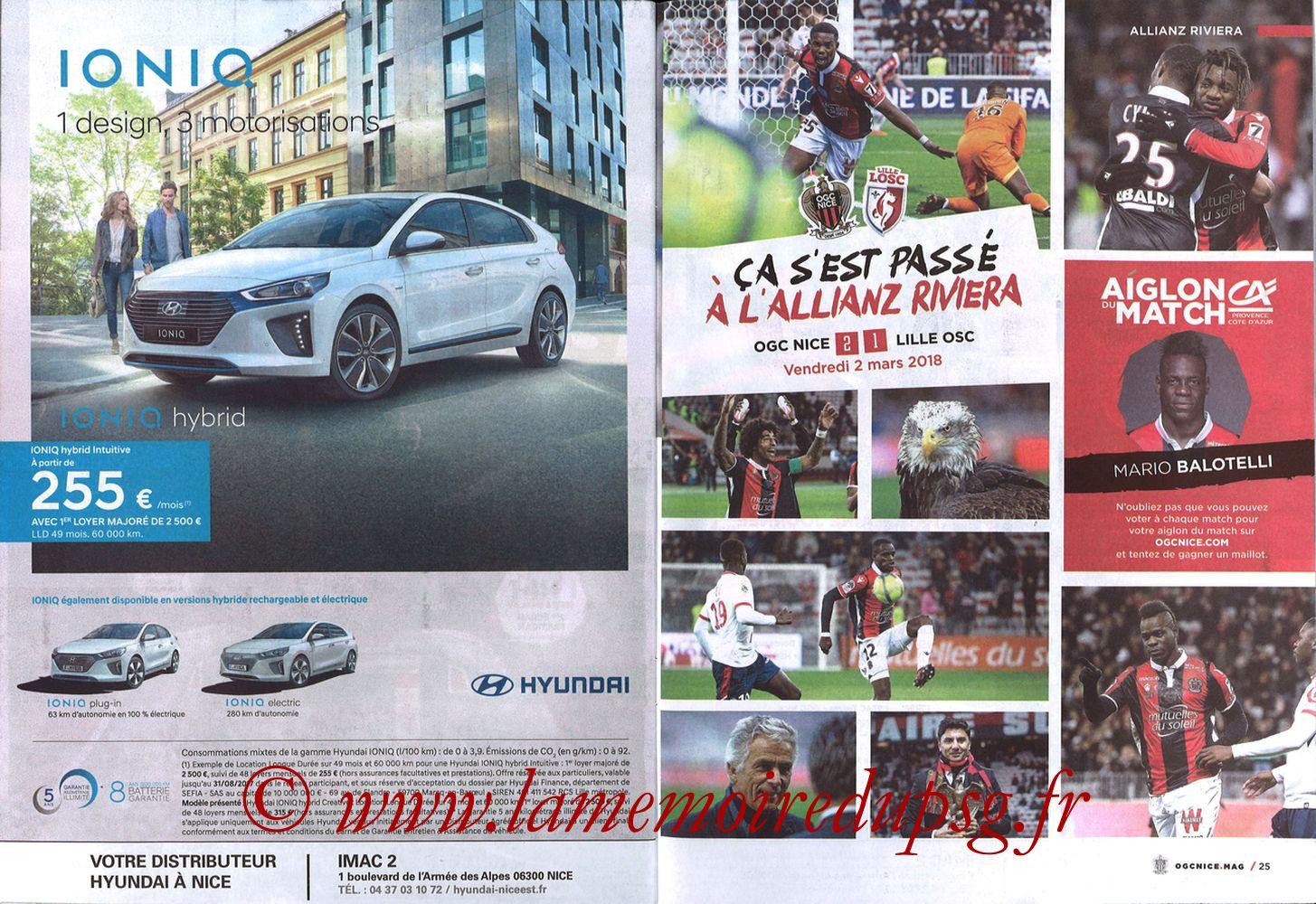 2018-03-18  Nice-PSG (30ème L1, OGC Nice Mag N°306) - Pages 24 et 25
