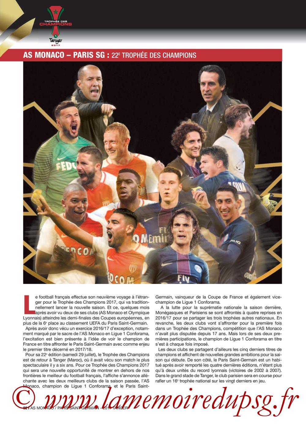 2017-07-29  Monaco-PSG (Trophée des Champions à Tanger, Dossier de Presse) - Page 02