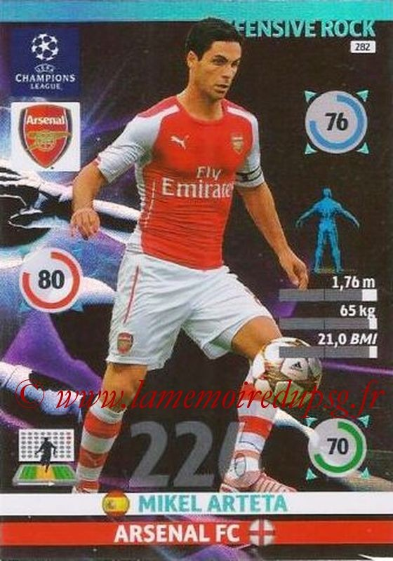 N° 282 - Mikel ARTETA (Janv 2001-02, PSG > 2014-15, Arsenal, ANG) (Defensive rock)