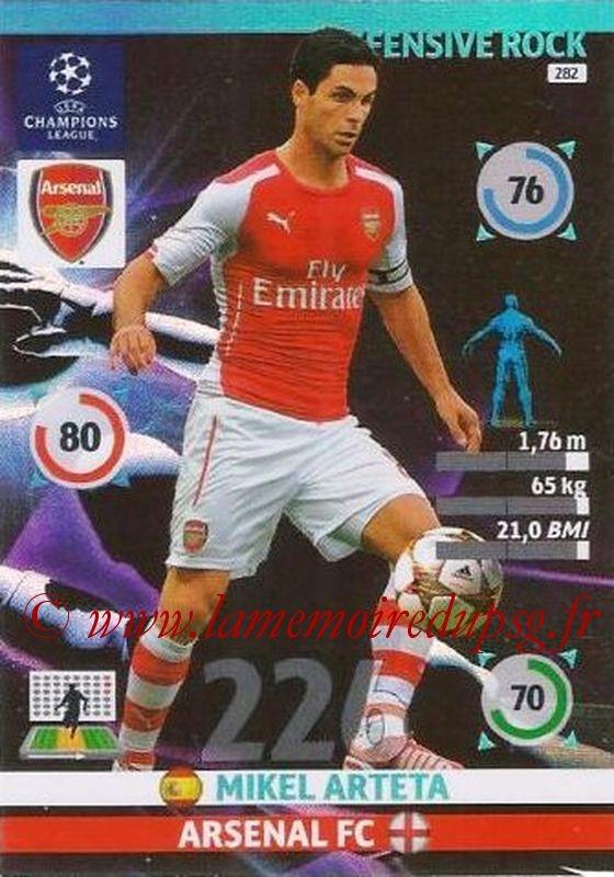 N° 282 - Mikel ARTETA (Janv 2001-02, PSG > 2014-15, Arsenal, ANG) (Defensive rock)
