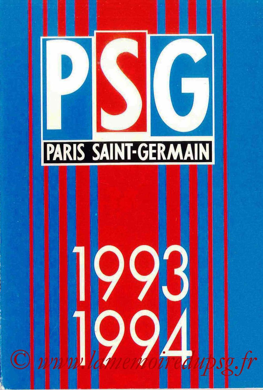1993-94 - Guide de la Saison PSG - Couverture