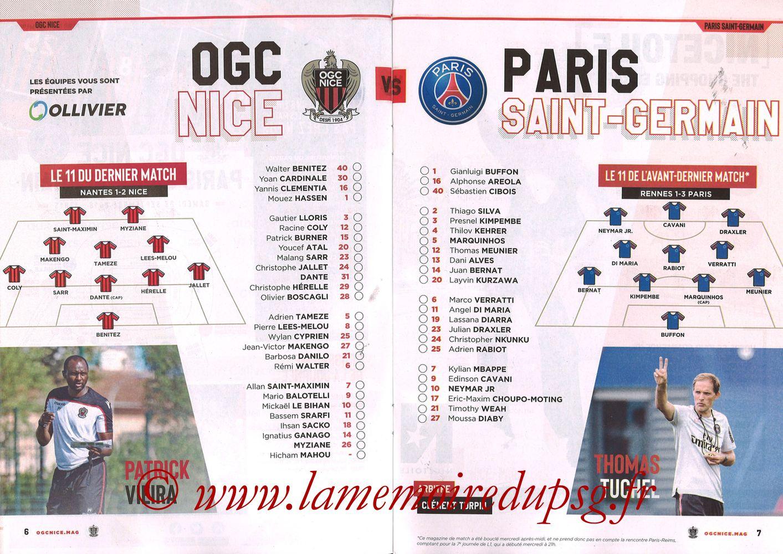 2018-09-29  Nice-PSG (8ème L1, Ogcnice.Mag N°313) - Pages 06 et 07
