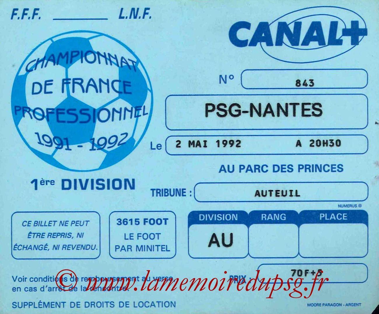 1992-05-02  PSG-Nantes (38ème D1)