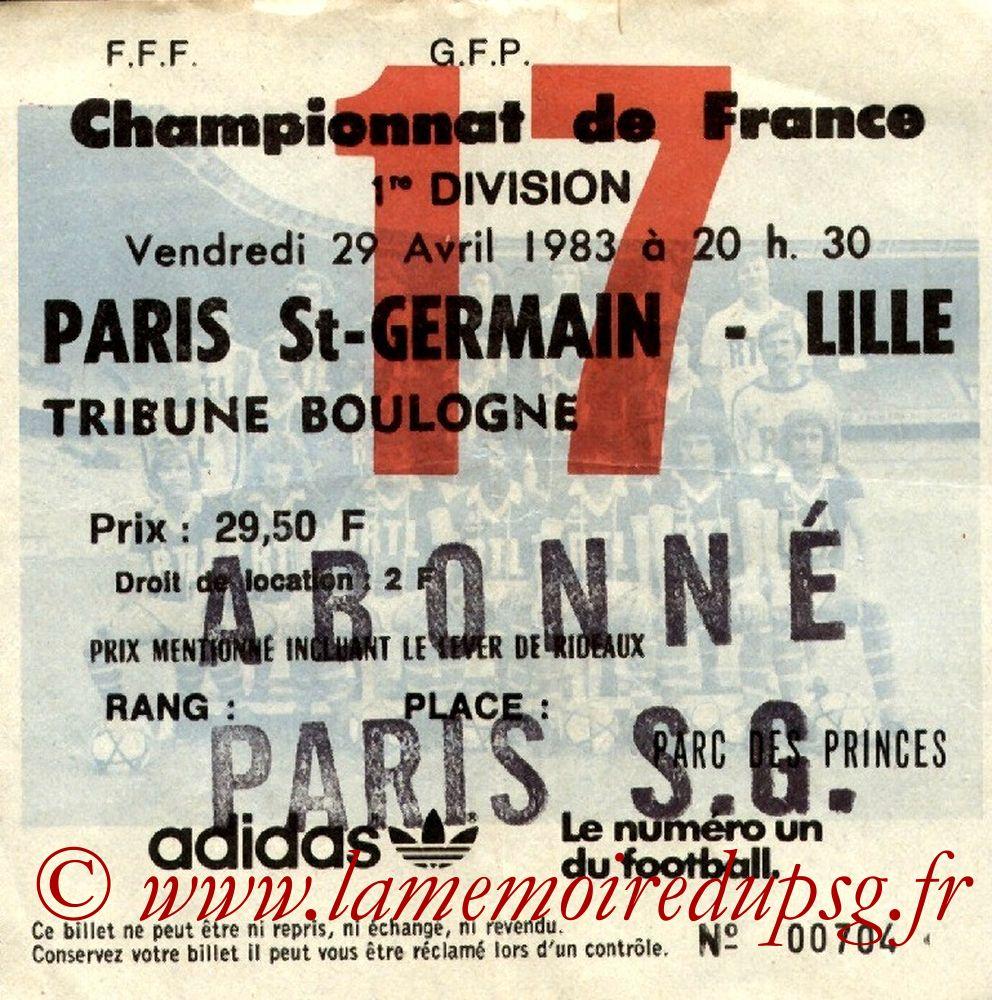 1983-04-29  PSG-Lille (33ème D1, Ticket N°17)