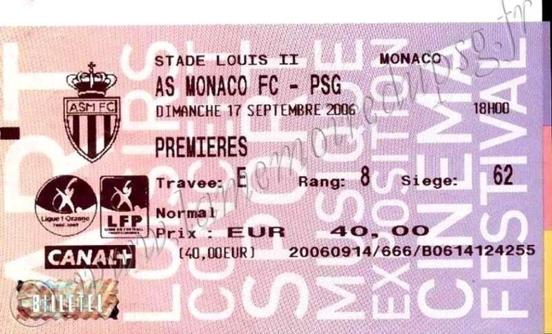 2006-09-17  Monaco-PSG (6ème L1, Billetel)