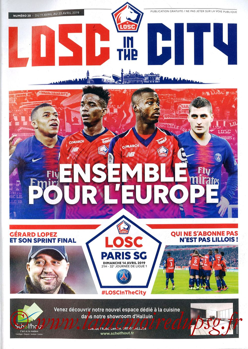 2019-04-14  Lille-PSG (32ème L1, LOSC In the City N° 28)