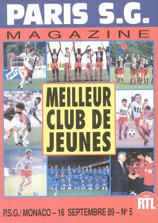 1989-09-16  PSG-Monaco (10ème D1, Paris SG Magazine N°5)